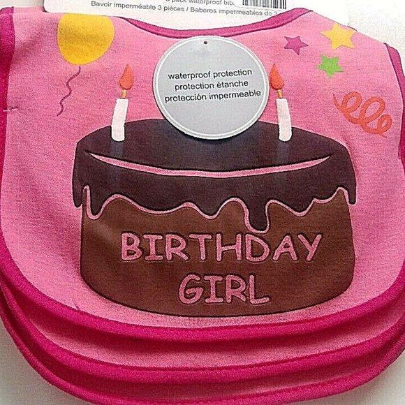 Birthday Girl Toddler Bib